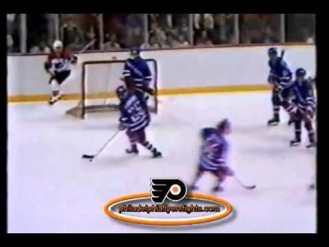 Bob Froese High Sticks Dave Poulin New York Rangers vs Philadelphia Flyers