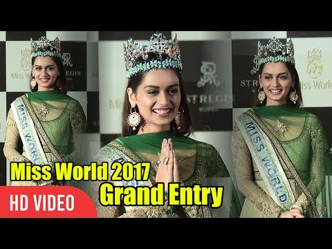 Miss World 2017 Manushi Chillar Grand Entry | Miss World Press Conference