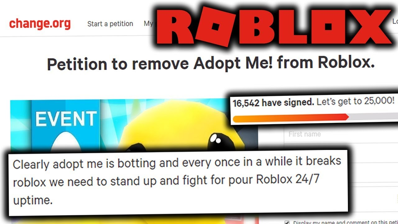 People Want To Remove Adopt Me From Roblox Youtube