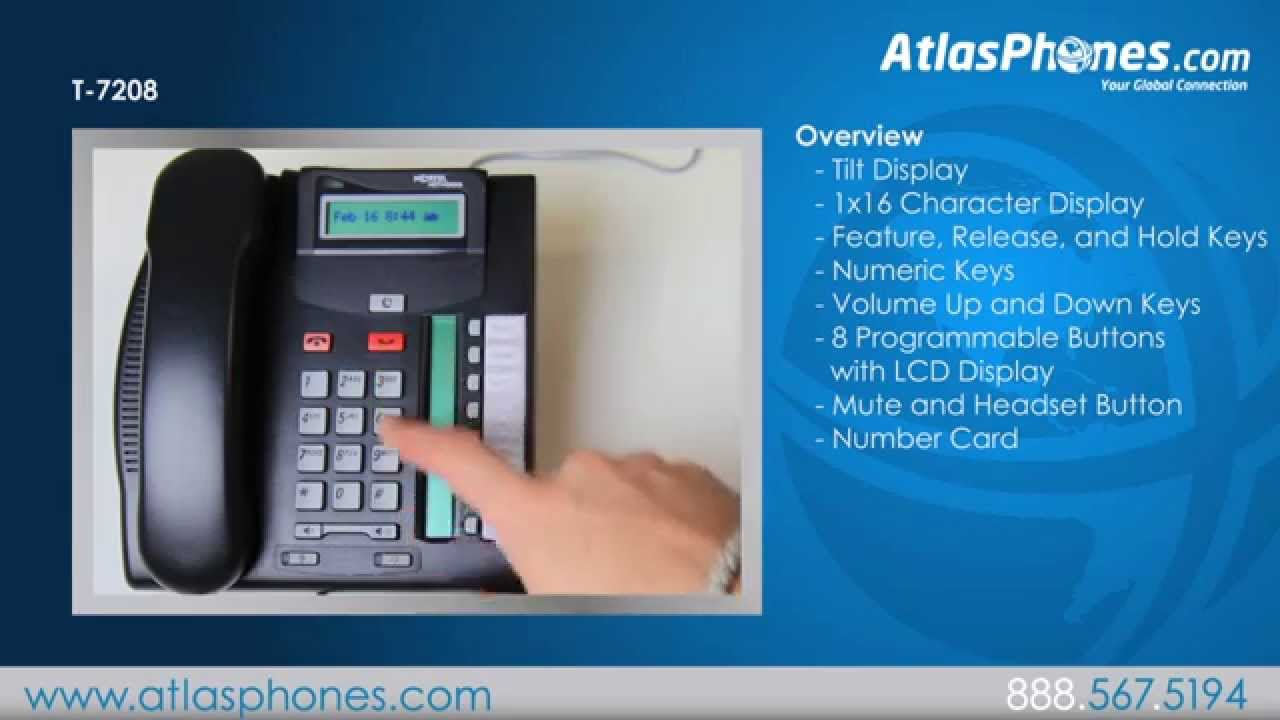 Nortel T7208 Avaya T7208 Phone Overview