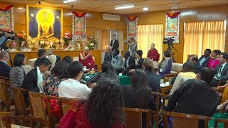 His Holiness the Dalai Lama's dialogue with Youth Peace Builders, 2019