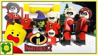 Lego Incredibles 2 Matching Brick Objects Superheroes | Stop Motion Cartoon For Kids