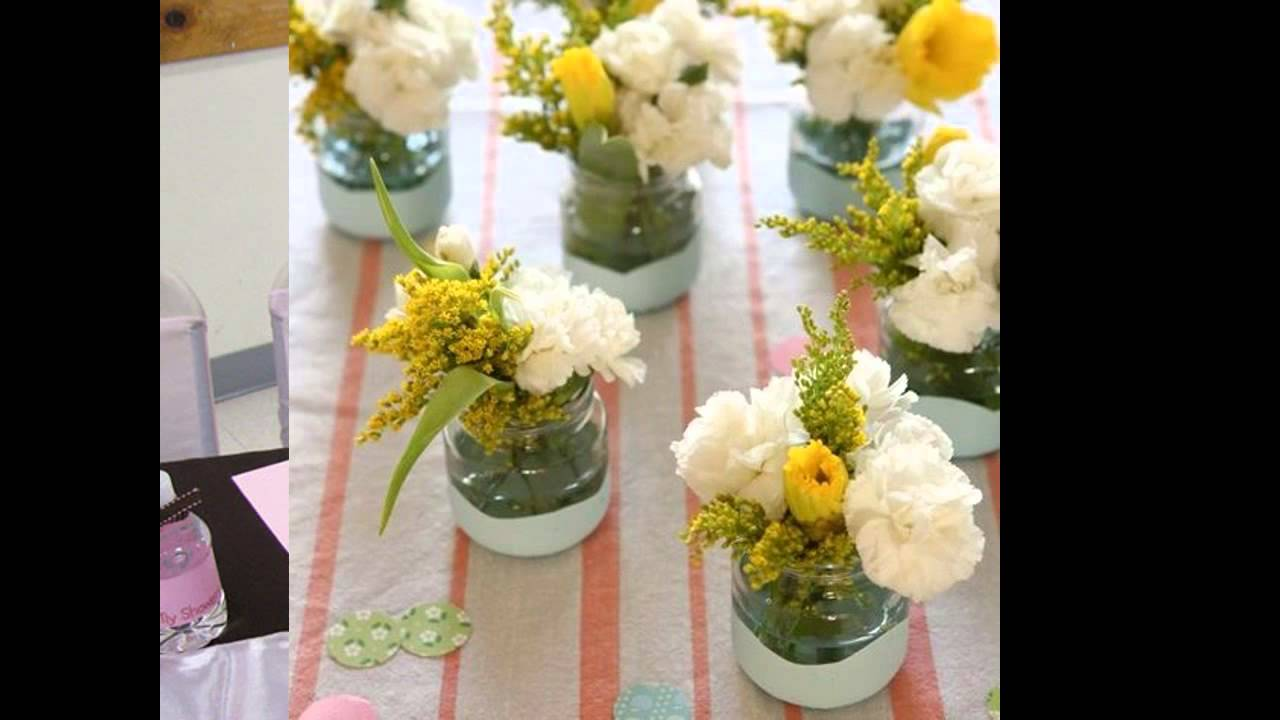 Baby shower flower arrangement ideas - YouTube