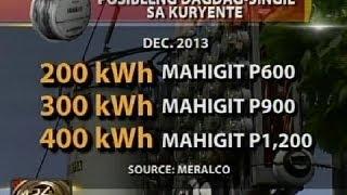 24Oras: Nasa P600, dagdag-singil sa kada 200 kilowatt-hour na konsumo
