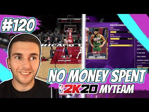 NBA 2K20 MYTEAM HOW TO EVOLE KAREEM ABDUL-JABBAR!! 50+ REBOUNDS A GAME! | NO MONEY SPENT #120