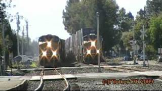 SUPER RARE! UP Freights Race through Fremont
