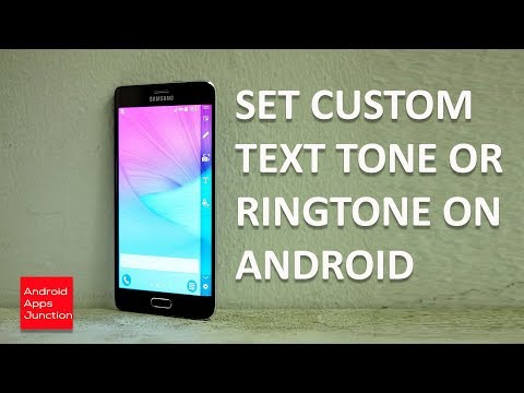 How To Set Text Message Notification Sound Ringtone for