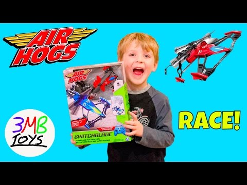 Air Hogs Switchblade RC Ground And Air Race Heli Toy Car And Helicopter