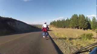 Cruzando la cordillera en bici