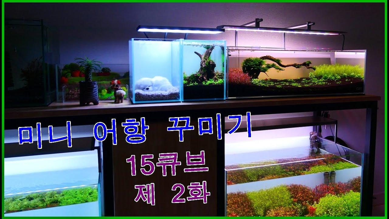 어항 꾸미기-책상위 미니어항 15큐브-제2화 입수편^^