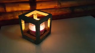 DIY cement craft - how to make easy concrete candle holder - Room decor easy idea