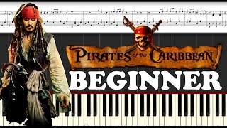 Pirates of the caribbean. Piano Tutorial for Beginners
