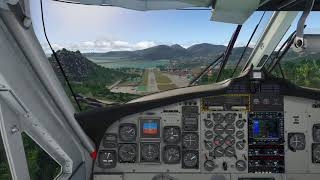 [XP11] DHC-6, TFFJ RWY10 Landing exercise #1