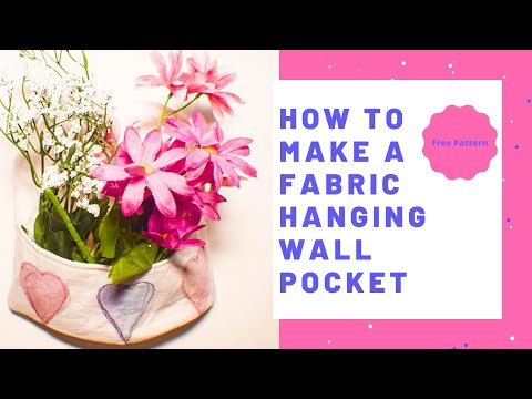 How to Make a Fabric Hanging Wall Pocket