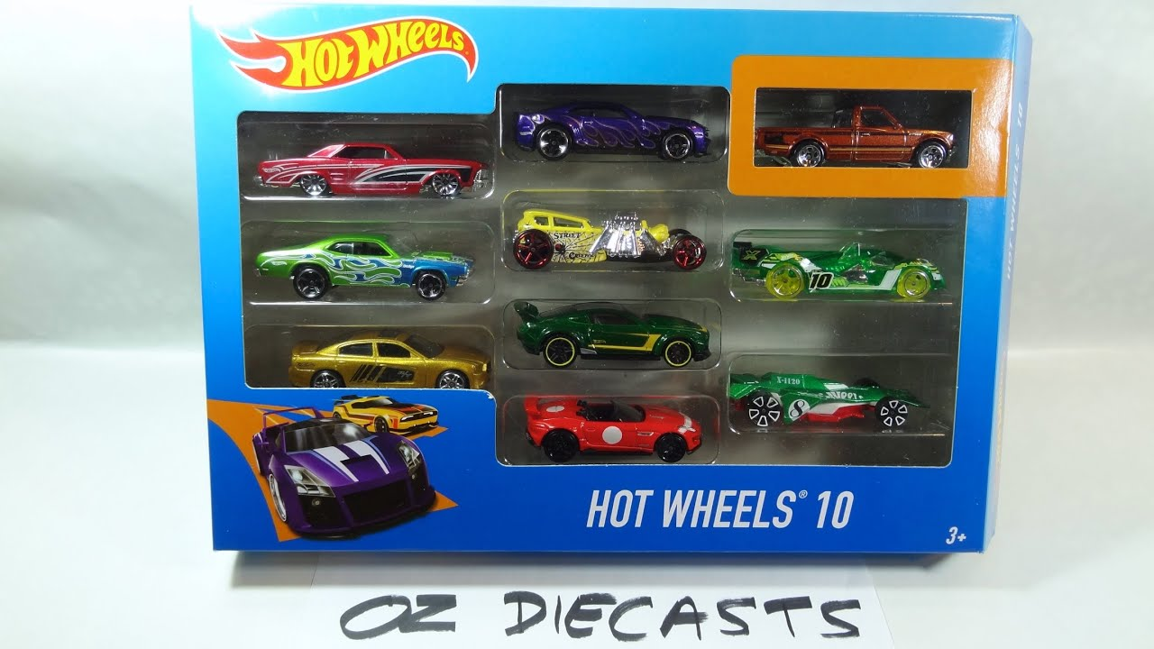 2016 Hot Wheels 10 pack review with Datsun 620 exclusive and red ...