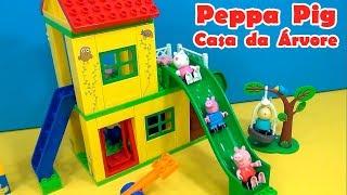 Peppa Pig LEGO CASA DA ÁRVORE NOVO ! ESCORREGADOR  BALANÇOS E GANGORRA #EUAMOAPEPPA #Ilovepeppapig