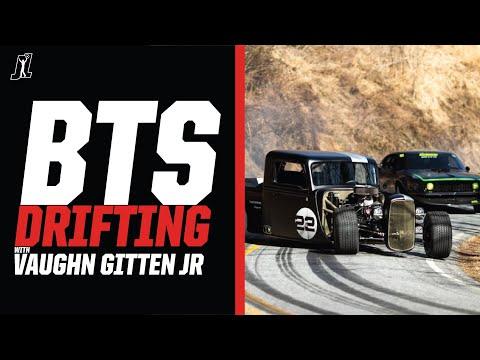 BTS of my 35' Hot Rod Drifting Backroads and a Historic NASCAR Racetrack with @Vaughn Gittin Jr.