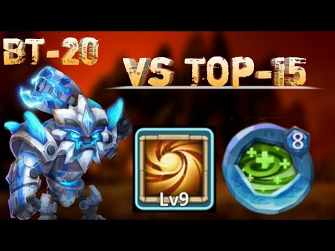 Sasquatch | 20 BT | Vs Top -15 | 9/9 Sacred Light | 8 Regenerate | No Pet/Warden | Castle Clash