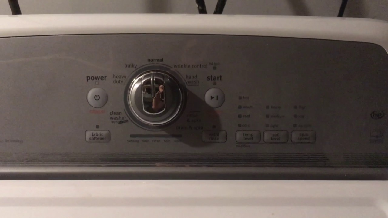 Maytag bravos washer diagnostic mode