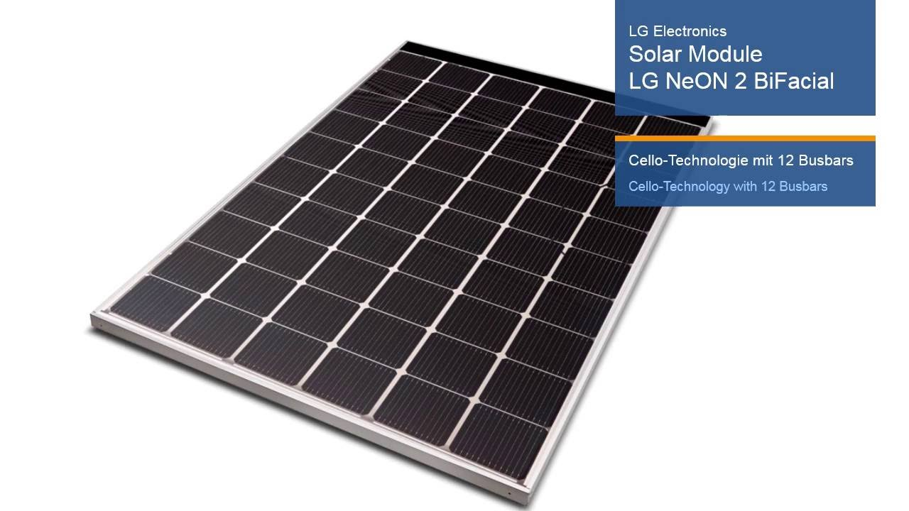 intersolar award 2016 winner lg electronics deutschland gmbh solar module lg neon 2 bifacial. Black Bedroom Furniture Sets. Home Design Ideas