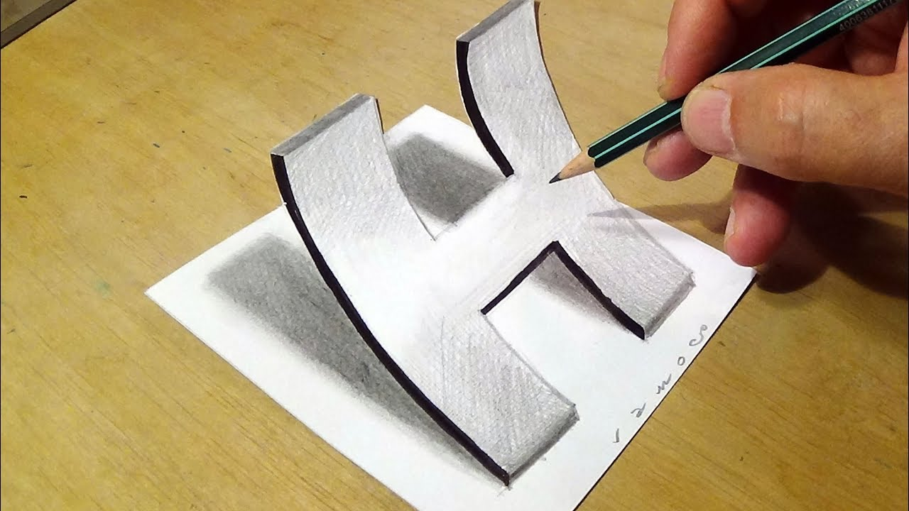 This is an image of Sizzling 3d Letter G Drawing