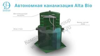 видео Топас-12 Long УС  загородная канализация для дома на 12 человек купить в Москве