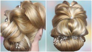 Праздничная прическа на короткие и длинные волосы Quick Hairstyle