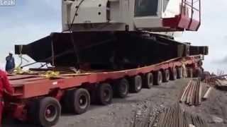 Неудачная перевозка крана.(Как не стоит транспортировать огромный кран, вблизи обрыва., 2013-05-08T13:19:47.000Z)