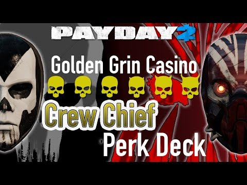 [Payday 2] One Down - Crew Chief Perk Deck - Golden Grin - Duo, no Bots