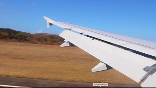 Wild Airbus A320 landing in Durban (South Africa)