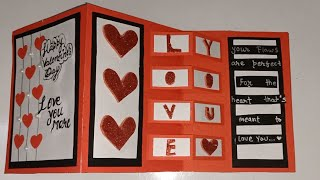 Beautiful and easy  handmade valentine's day card ! love for crafts .