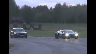 BMW M5 Turbo срещу Bugatti Veyron 16.4 1001 коня