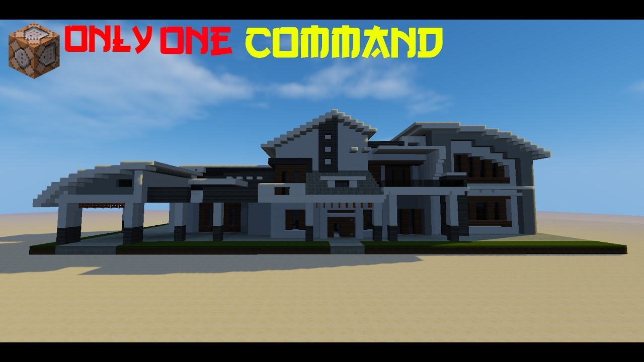 MinecraftModern House In Command YouTube - Minecraft hauser modern