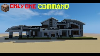 💯Minecraft:Modern House in 1 Command!