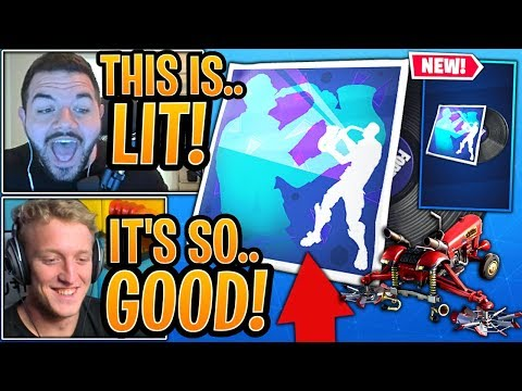 Streamers *GO CRAZY* for *NEW* 'SAXY GROOVE' Music! *NEW* 'CROP DUSTER'! - Fortnite Moments