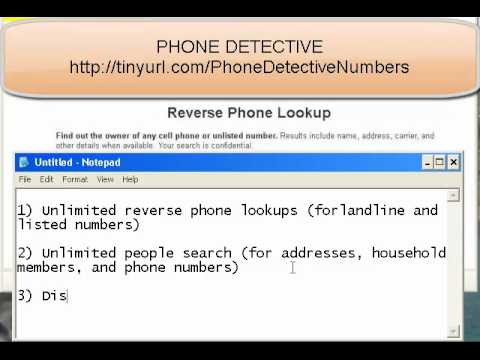 Cell Phone Detective