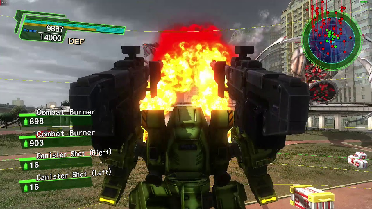 EDF 4 1 Online 1/4 players Inferno Mission 11 Air Force (Air Raider)  Cheesiest Tactic