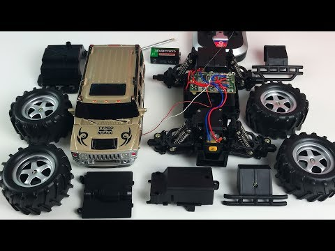 Автосервис Cобираем Джип - Car Service With Monster Truck Jeep - Fun Kids Video