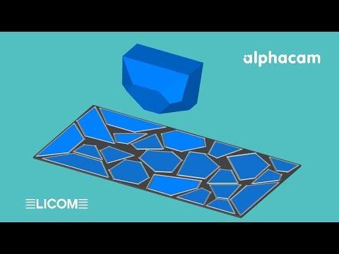 Licom AlphaCAM 3D-Plattenmakro mit Schachteln