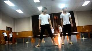 2012 Beijing Dance Academy Chinese Folk Dance Exam part 2 (Boys Dai Dance)