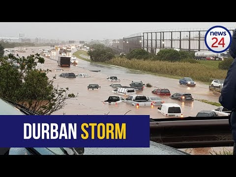 Torrential rains hit the Durban area