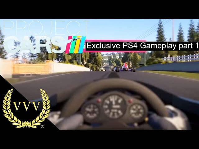 Project Cars Exclusive PS4 Gameplay part 1