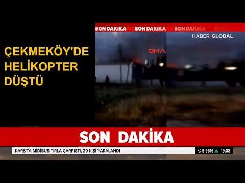 Çekmeköy'de Askeri Helikopter Düştü. İşte İlk Görüntüler...