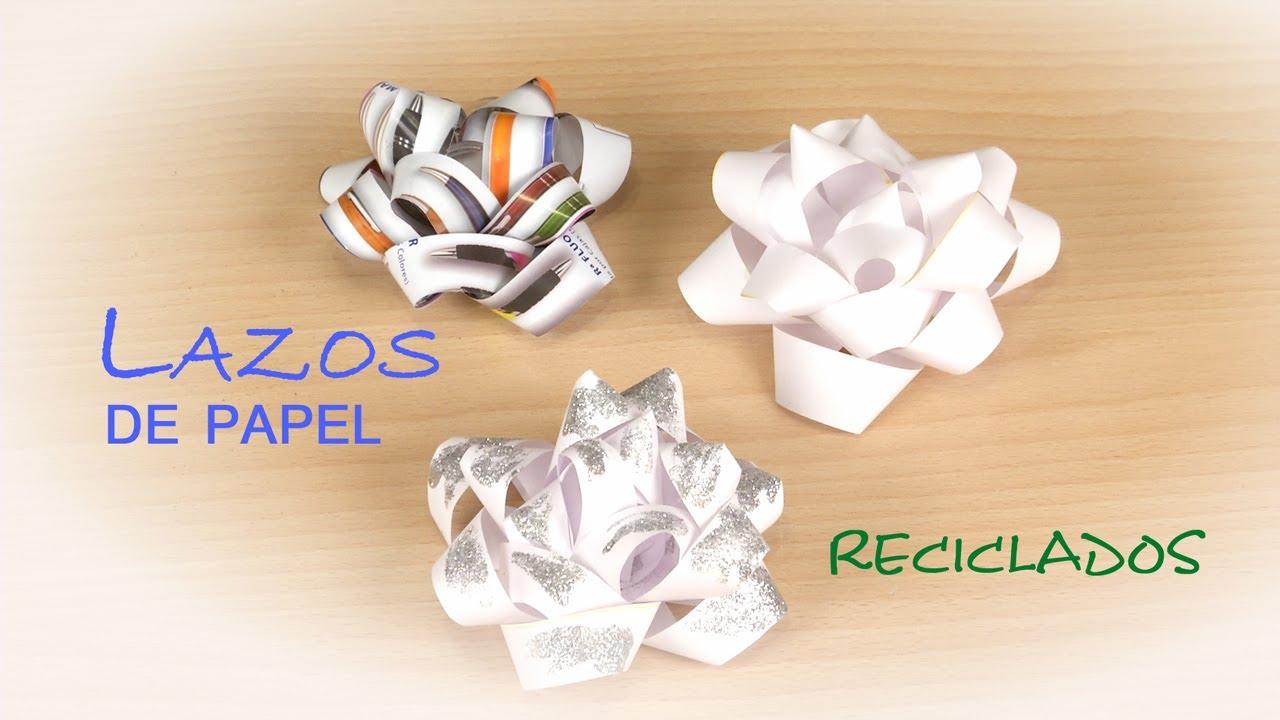 Lazo para regalos de papel reciclado facil y gratis - Papeles de vinilo para pared ...
