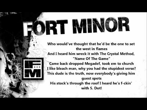 Remember the Name-Fort Minor (Lyrics on screen)