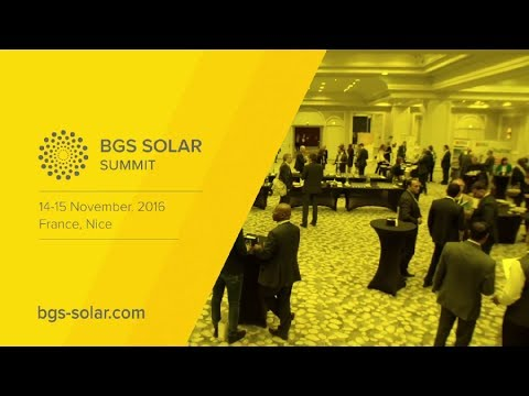 BGS Group - BGS Solar Summit @ Nice, France,  14.11.16