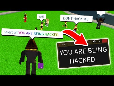 "TROLLING FANS AS A ""HACKER"" WITH ADMIN! (Roblox)"