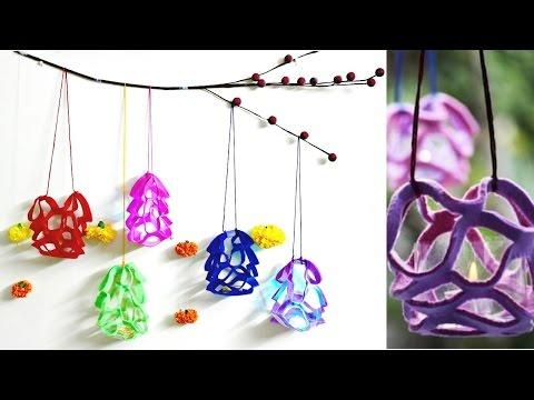 DIY Diwali Decoration at Home Idea: How to make felt-paper lanterns