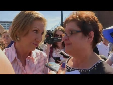 Carly Fiorina confronted by a Planned Parenthood supporter
