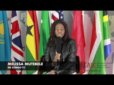 ACASC Study in China - Melissa Mutebele from DR. Congo